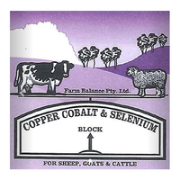 Farm Balance Copper Cobalt & Selenium Cattle & Horses Salt Lick Block 18kg image