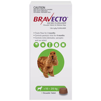 Bravecto Dog Chew Tick & Flea Treatment for 10-20kg Medium Green 1 Pack image