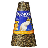 Harmony Cone Wild Bird Sunflower Seed Mix Food Treats 500g Ctn x 4  image