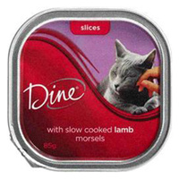 Dine Cat Food Morsels Slow Cooked Lamb 85g x 14 image