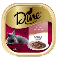 Dine Cat Food Saucy Morsels with Salmon 14 x 85g  image