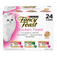 Fancy Feast Wet Cat Food Chicken Feast Collection Variety Pack 24 x 85g image