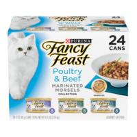 Fancy Feast Wet Cat Food Poultry & Beef Marinated Morsels Variety Pack 24 x 85g image