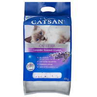 Catsan Silica Cat Litter Crystals Lavender Scent Hi Absorption 2 x 4kg  image