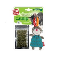 Gigwi Refillable Catnip Multi Teabag Rabbit Cat Toy   image
