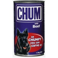 Chum With Beef Flavour Adult Dog Food 1.2kg x 12  image