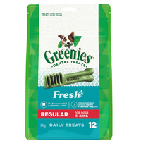 Greenies Fresh Mint Regular Dogs Dental Treats 11-22kg 340g image