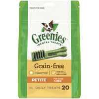Greenies Grain Free Petite Dogs Dental Treats 7-11kg 340g image