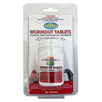 Vetafarm Pigeon and Bantam Wormout All Wormer Tablet 50 Pack  image