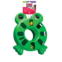 KONG Cat Active Puzzle Toy Frog image