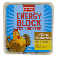 Peters Energy Block w/ Dried Mealworms Energy Supplement for Chickens 6 x 280g image