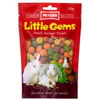 Peters Little Gems Small Animals Food Treats 4 x 120g image