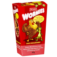 Peters Wormies Poultry Wild Birds & Lizards Dried Mealworms 5 x 40g image