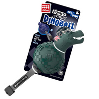 Gigwi Dinoball Push To Mute Dog Toy T Rex 2 Colours image