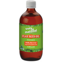 Vets All Natural Flax Seed Oil for Pet Dog Skin Irritation - 2 Sizes image