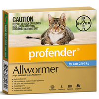 Profender Cat Allwormer Broad Spectrum Control 2.5-5kg - 2 Sizes image