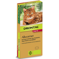 Drontal Tablet Allwormer for Large Cats & Kittens 6kg - 2 Sizes image