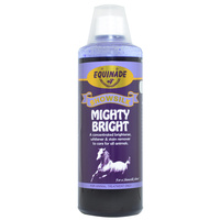 Equinade Showsilk Mighty Bright Rinse Whiten Brighten Horse Coat - 3 Sizes image