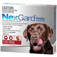 Nexgard Extra Large Dogs Tasty Chews Tick & Flea Treatment 25.1-50kg - 2 Sizes image