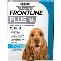 Frontline Plus Dog Fleas Treat & Control Water Fast Blue - 2 Sizes image