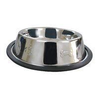 Superior Pet Antiskid Embossed Side Stainless Steel Pet Bowl - 3 Sizes image