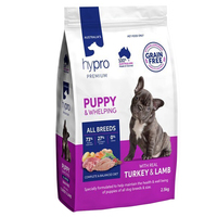 Hypro Premium Puppy All Breeds Dry Dog Food Real Turkey & Lamb - 3 Sizes image