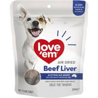 Love Em Air Dried Beef Liver Dog Training Treats - 2 Sizes image