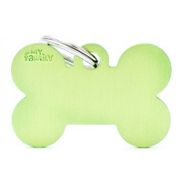 My Family Basic Bone Pet Tag Collar Accessory Lime - 3 Sizes image