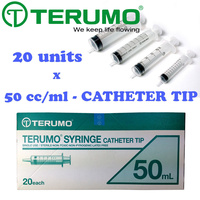 Terumo Syringe Catheter Tip 20 Units 50ml Hypodermic  image