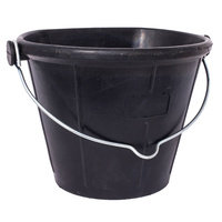 New Tyre Rubber Feeder Flat Back Bucket 17L Durable Horse Pet Pony  image