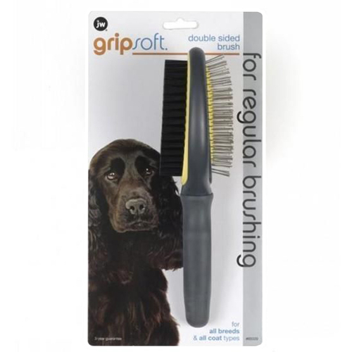 Gripsoft Double Sided Regular Pin & Bristle Brush For Dogs