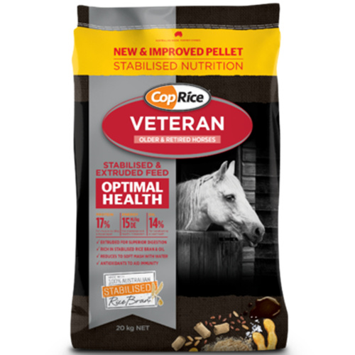 CopRice Veteran Muscle Body Senior Mature Old Horse Pony Feed 20kg