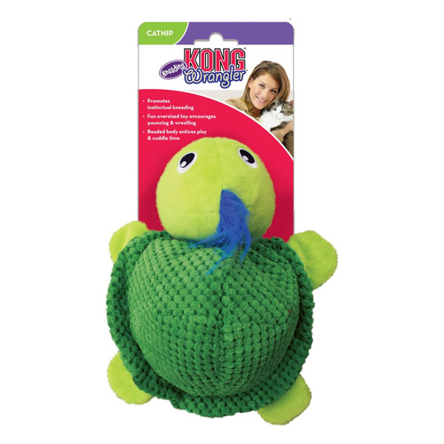 KONG Cat Wrangler Kneading Turtle Toy
