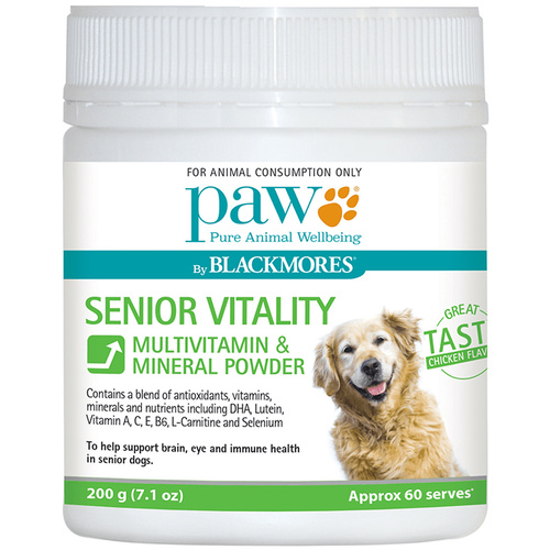 Paw Senior Vitality Dogs Multivitamin & Mineral Powder 200g