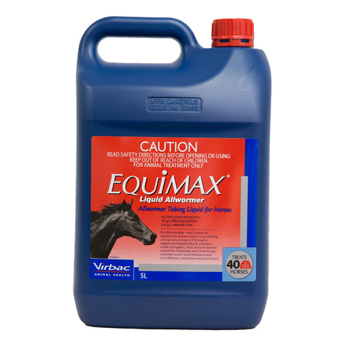 Equimax Liquid Oral All-Wormer Tapeworm Roundworm Horse 5L